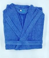 Peignoir Capuche 500g/m² Bleu  Foncé 100% Coton