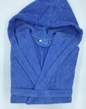 Peignoir Capuche Bleu Foncé - 100 % coton - 500gr/m²