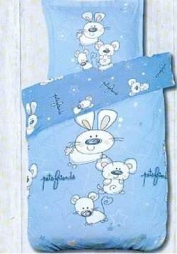 Housse de couette Bébé Pets Friends Bleu 100x140