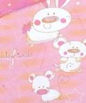 Housse de couette Bébé Pets Friends Rose 100x140