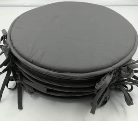 new lot de 6 galettes de chaise ronde pour habiller. Black Bedroom Furniture Sets. Home Design Ideas