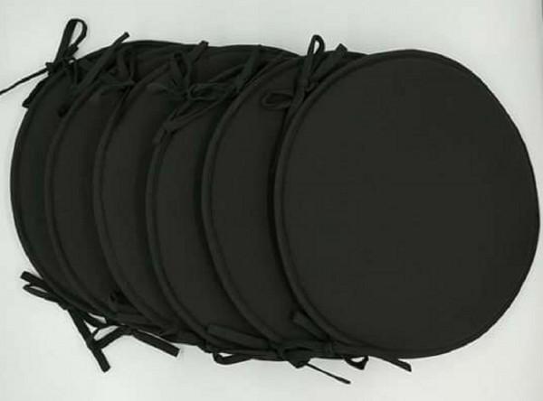 arrivage lot de 6 galettes de chaise ronde coloris. Black Bedroom Furniture Sets. Home Design Ideas
