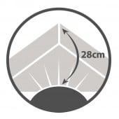 Drap housse 100% coton 140x190 Prune Bonnet  28 cm