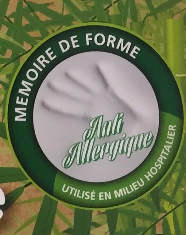 Surmatelas à mémoire de forme Fibre de bambou Anti-allergique 140x190 cm
