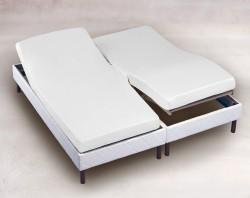 Drap Housse 2x70x200 Blanc TPR