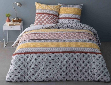Housse de Couette Percale 220x240 Arcade + 2 taies 65 x 65