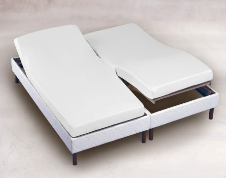 drap housse 2x70x190 blanc