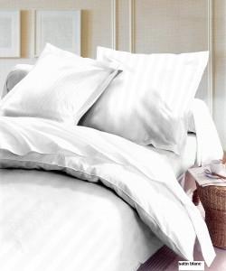 Housse de Couette Coton Finition Satin  240x260 White