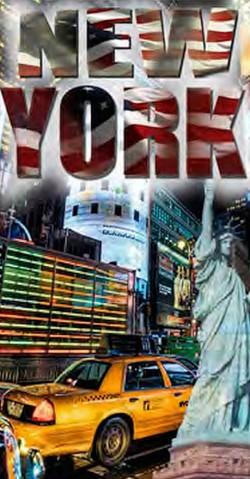 Serviette de plage New York Taxi 100% coton 90x170cm