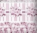 Parure de Draps 140 Jardin Fleuri Rose 100% Coton