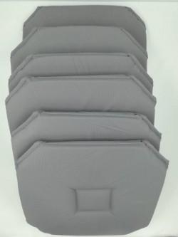 Lot de 6 galettes de chaise Axel Acier