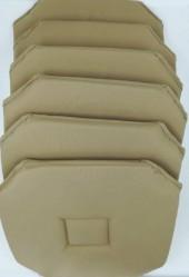 Lot de 6 galettes de chaise Axel Lin