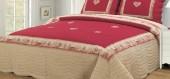 Couvre lit montagne / chalet meribel rouge
