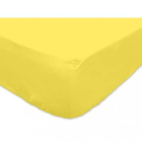 drap housse 120 jaune mais
