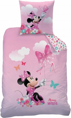 Housse de couette 140x200 - Disney Minnie Papillon