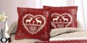 Housse de couette Chalet Winter Rouge
