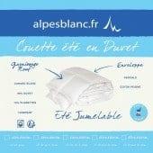 Couette Naturelle 4 saisons en duvet Jumelable - Alpes Blanc