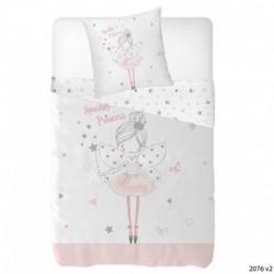 Housse de couette Princess Sparkly 140x200+taie d'oreiller 65x65