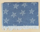 Foutas Jacquard Stars 70x190cm 100% Coton
