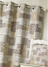 Rideaux Initiales TAUPE