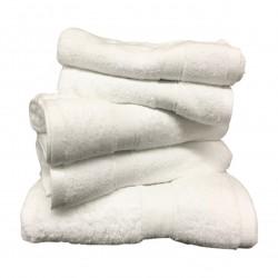 Lot de 5 Grandes Serviettes Eponge 600 g/m²  100 % coton - Blanche