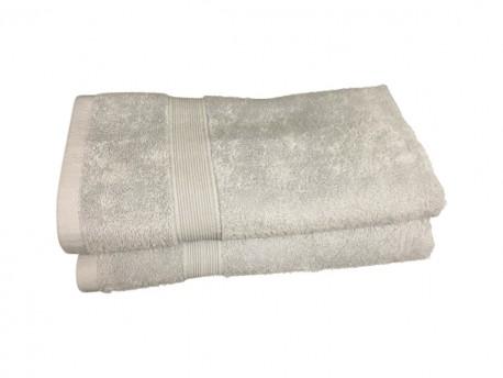 Lot de 2 Serviettes de Bain Eponge 600 g/m²  100 % coton - Grise