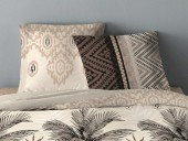 Taies Housse de couette 220x240 + 2 taies Jungle Taupe