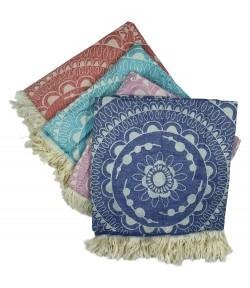 Foutas Jacquard Nouveau Mandalas 70x190cm 100% Coton