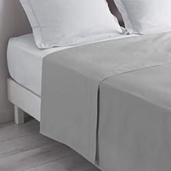 Drap plat 270x325 gris souris grandes dimensions