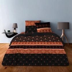 Housse de couette Art Deco Orange 220x240 + 2 taies carrées 65x65